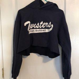 Navy Twisters Utah Softball sweatshirt
